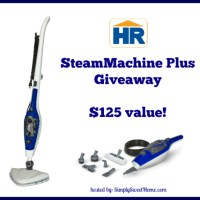 5 Reasons to Clean with Steam + HomeRight SteamMachine Plus Giveaway