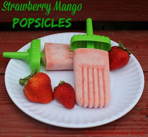 Strawberry Mango Popsicles