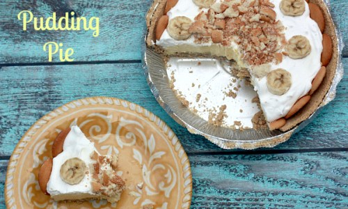 Banana Pudding Pie and Slice