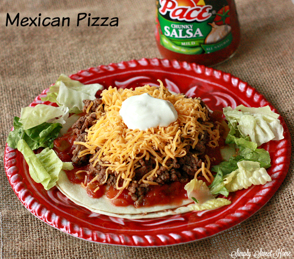 Mexican Pizza with Pace Salsa