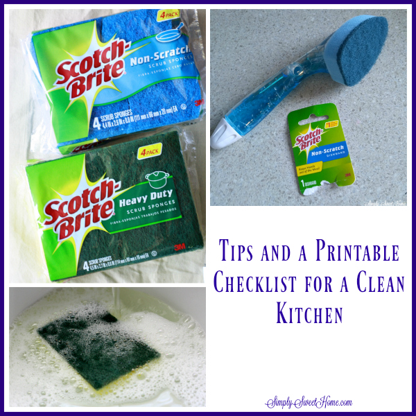 Tips and a Printable Checklist for Clean Kitchen