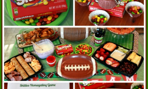 Homegating with Skittles and Printable Football Party Activities