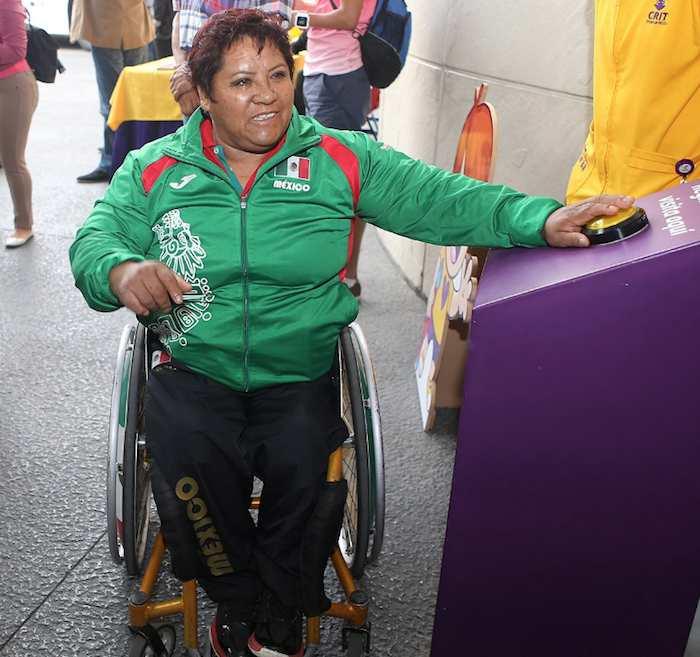 En la imagen, Catalina Díaz Vilchis durante el registro para competir. Foto: Twitter.