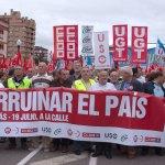 19 de julio: los asturianos salen en Gijón masivamente a la calle