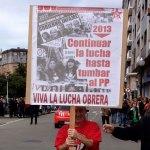 """10M, masiva manifestación en Gijón """"contra el paro y por la regeneración democrática"""""""