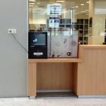 Barreras físicas en el nuevo Palacio de Justicia de Gijón
