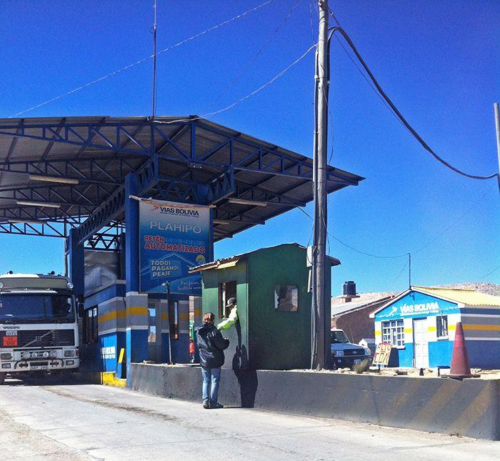 Peaje y control a la salida de Potosí