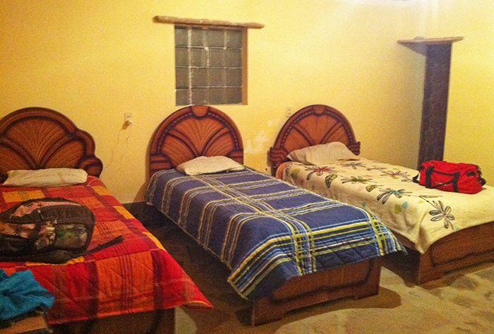 Mi habitación compartida la primera noche