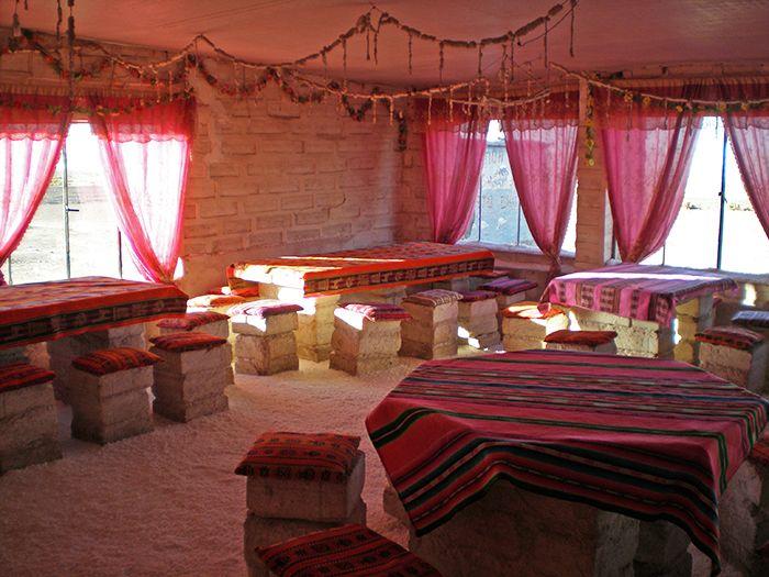 Hotel de sal donde me hospedé la última noche