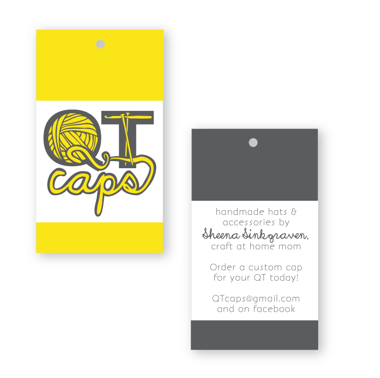 QT Caps business card Sioux Falls McKeever Design and Copywriting
