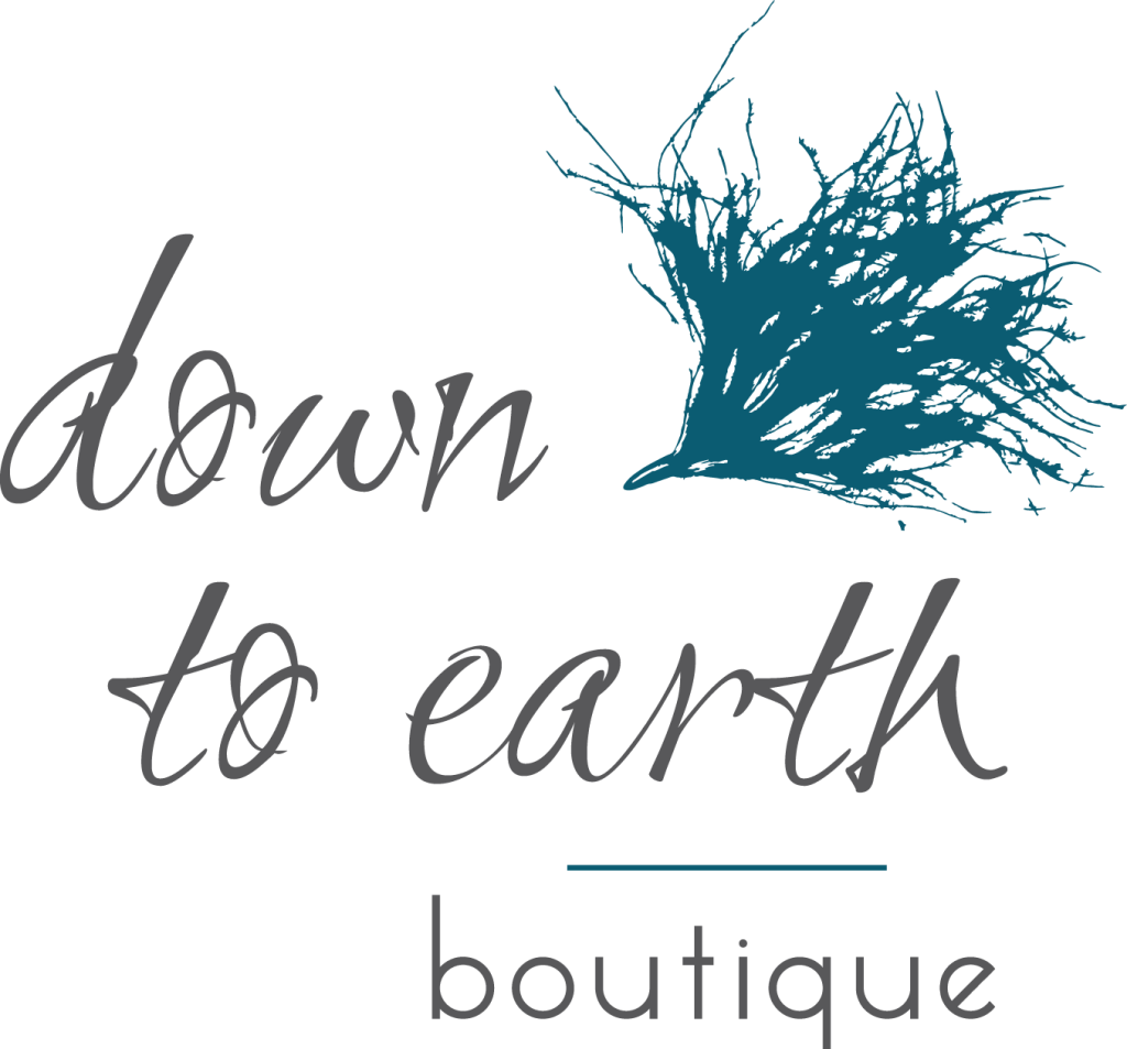 Down to Earth Boutique Sioux Falls logo by McKeever Design and Copywriting