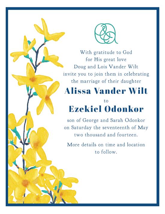 Wedding Invitation for My Dear Sister