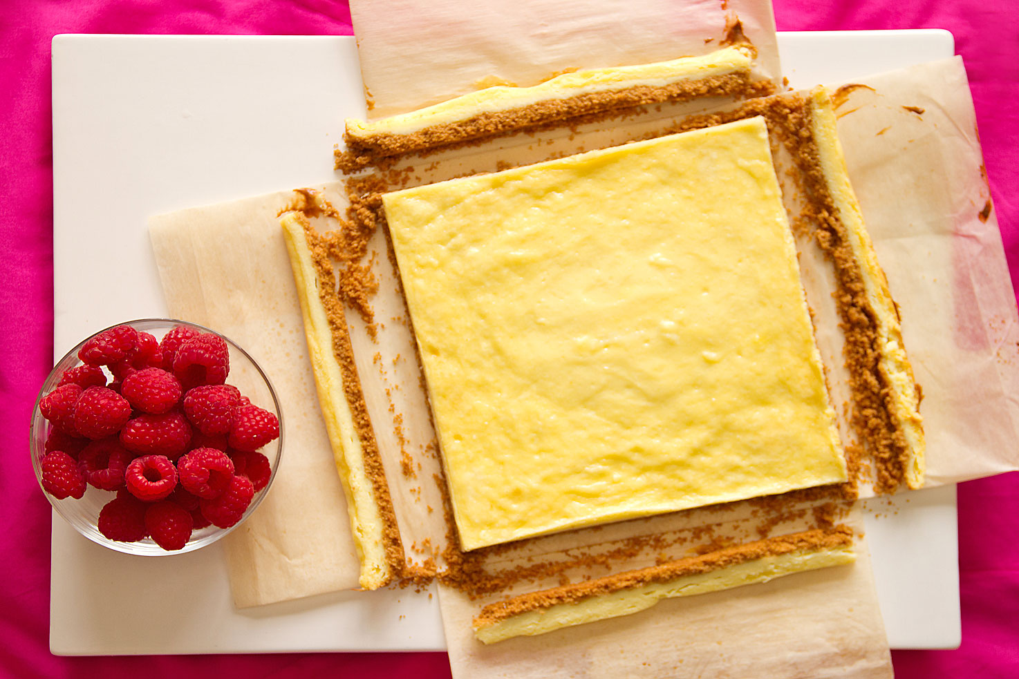WWhite Chocolate Cheesecake Squares with Fresh Raspberries ...