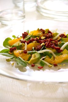 Fennel, Avocado, and Orange Salad with Chorizo Dressing