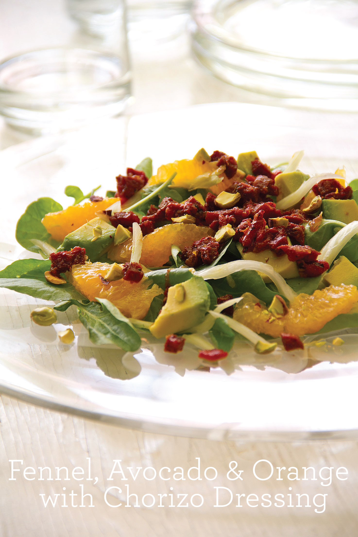 Fennel, Avocado and Orange with Chorizo Dressing