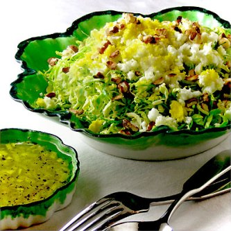 Shaved Brussels Sprouts Salad with Citrus Vinaigrette - SippitySup