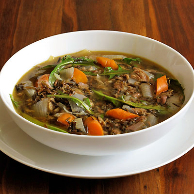 Lamb Soup with Dandelion Greens