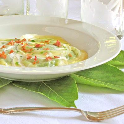sweet pea ravioli