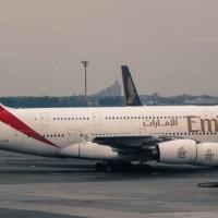 El control intenso de un Airbus 380 de Emirates en pocos minutos