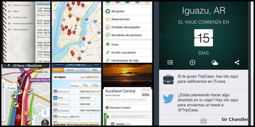 Las aplicaciones que uso para los viajes