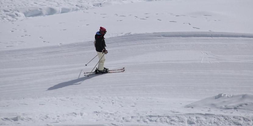 Esquiando (o algo parecido) en Portillo