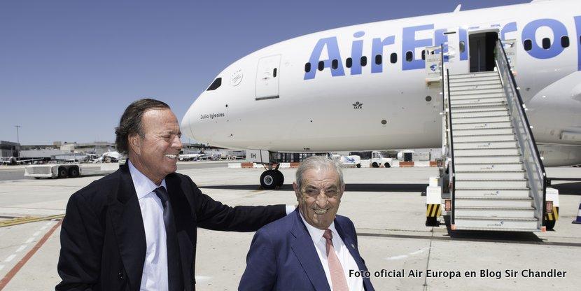 El segundo Boeing 787 de Air Europa se llama... Julio Iglesias!