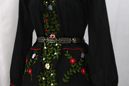 bolsita long sleeve mexican dress tunic black 05 618x935
