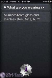 What Are You Wearing? Siri Sayings