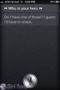 Who Is Your Hero? - Funny Siri Sayings