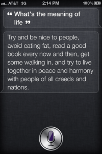 Siri Waxes Philosophically