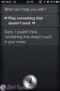 Play Something That Doesn't Suck - Siri Says
