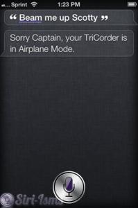 Beam Me Up Scotty! - Siri Talks About Star Trek!