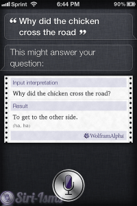 Why Did The Chicken Cross The Road? - siri apple sayings