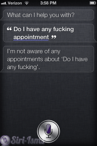 Do I Have Any Fucking Appointment - Funny Siri