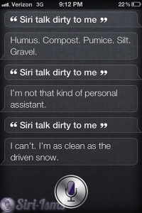 Siri Talk Dirty To Me- Funny Siri Sayings