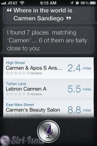 Where In The World Is Carmen Sandiego? ~ siri funny sayings