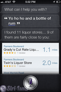 Yo Ho Ho And A Bottle Of Rum- Siri Says
