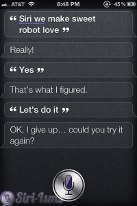 Siri We Make Sweet Robot Love - Funny Siri Sayings