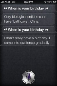 When Is Your Birthday?~ Siri Quotes