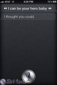 I Can Be Your Hero Baby - Siri Says