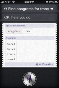 Find Anagrams for Trace - Siri