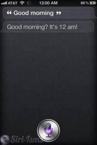Good Morning! Says Siri