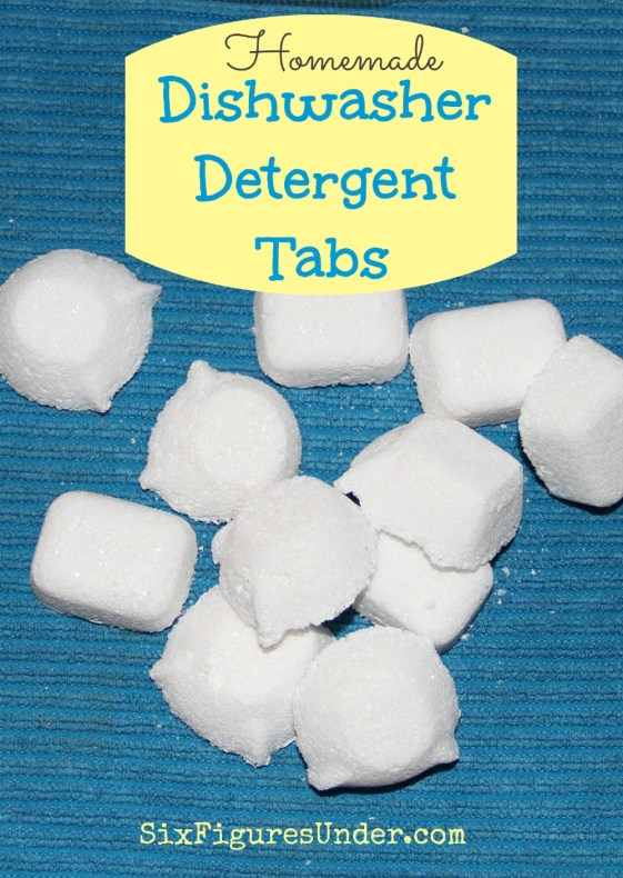 At $.05 per tab, making homemade dishwasher detergent tabs not only saves us money, but it saves us from the toxic chemicals in commercial dishwashing soaps.