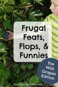 Frugal Feats, Flops, and Funnies– Wild Grapes Edition