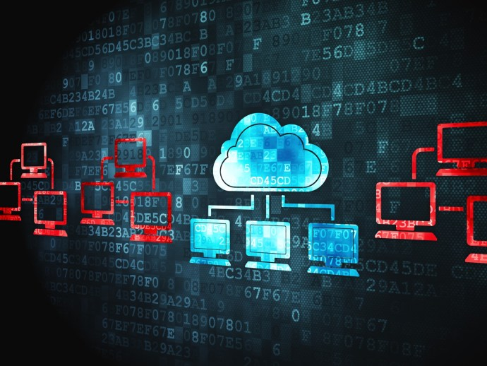 computing concept: Cloud Technology on digital background