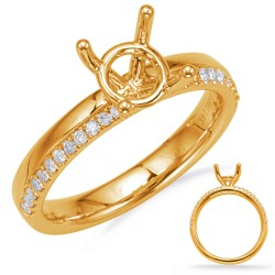 Small Of Gold Engagement Rings