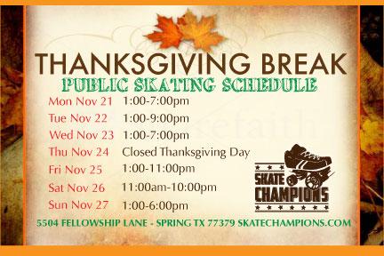 Skate Thanksgiving Break