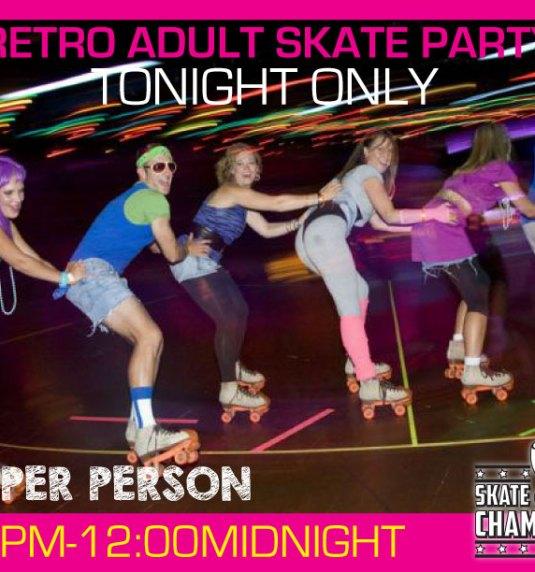 Adult Retro Skate Party Sat Feb 25th
