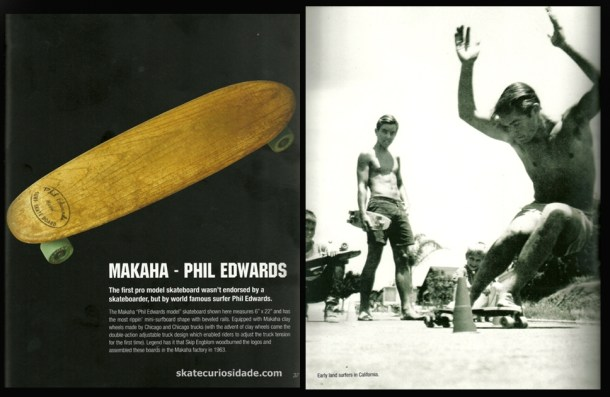 skater/surfer Phil Eduards primeiro model com assinatura