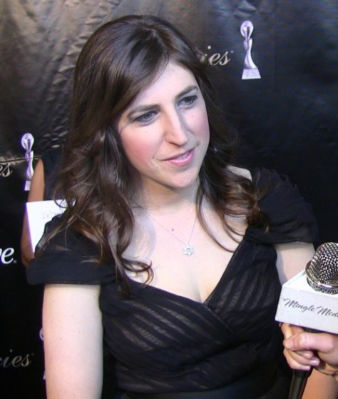 Amy Farrah Fowler attending the Gracie Awards. Apparently, not to promote the safety and effectiveness of vaccines.